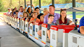 The Train. Riders under 36 inches must ride with an adult.